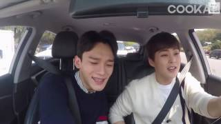 [ENG SUB] 160507 Travel Without Manager BTS (Xiumin & Chen) - EXO and Descendants of the Sun OST
