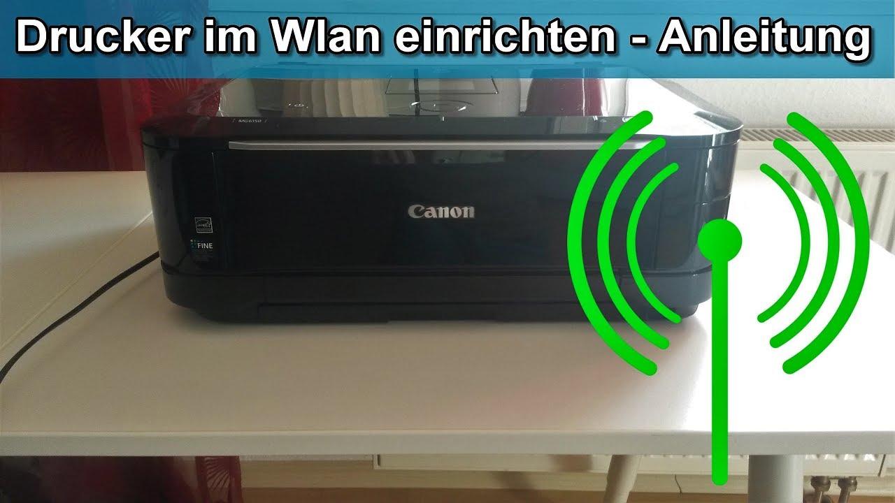 Canon Pixma Drucker im Wlan einrichten – Pixma MG8 mit wlan verbinden –  Anleitung