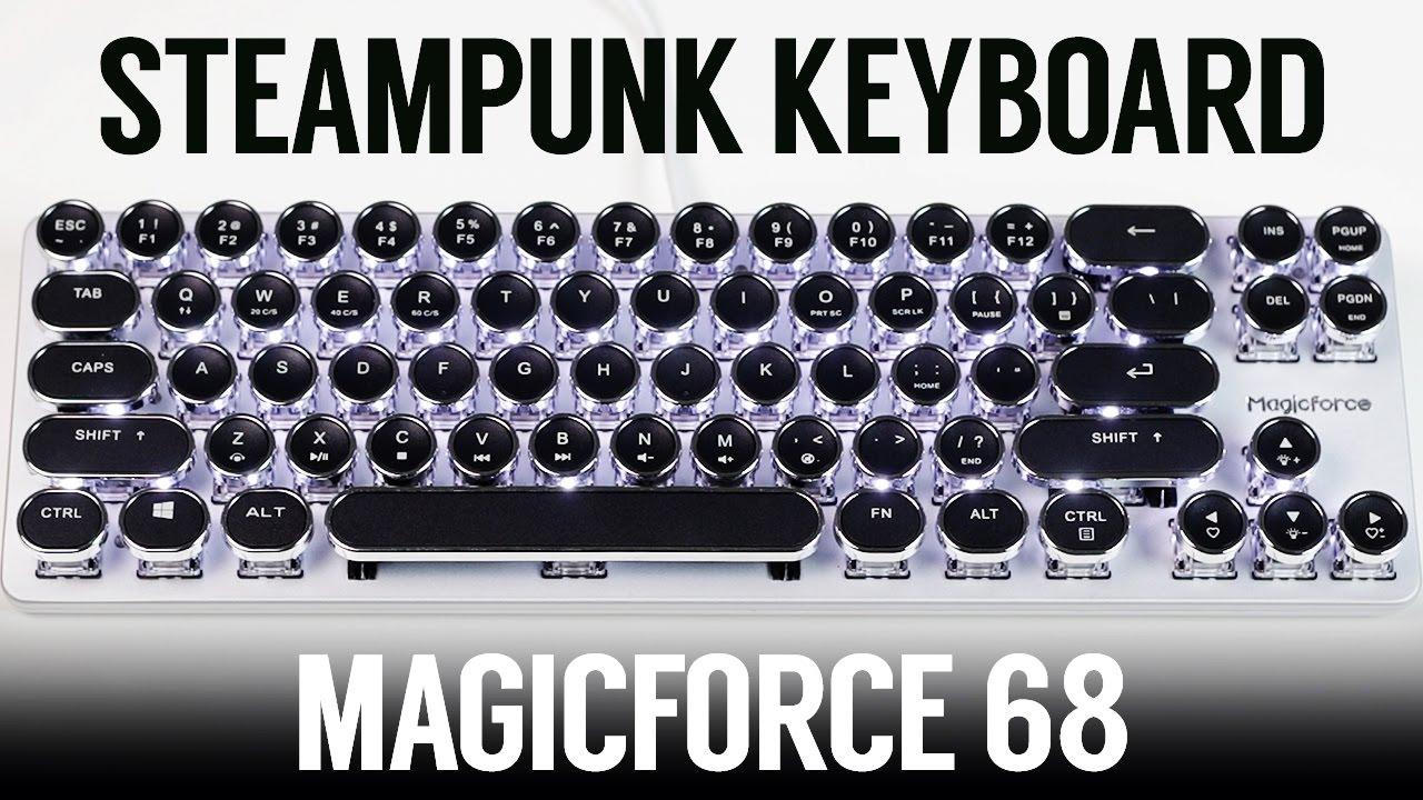 Steampunk Typewriter Keyboard! Magicforce Smart 68 Mini (Gateron Brown)  Sound Test + Review