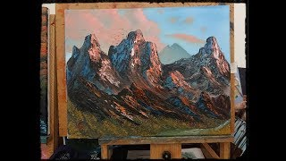 Red Rocky Mountain - Wet on Wet - Full Painting Tutorial