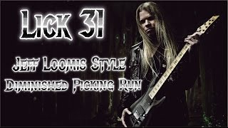 Lick #31 - Jeff Loomis Style Diminished Picking Run + TAB