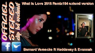 What Is Love 2018 Remix184 extend version - Bernard Vereecke ft Haddaway & Evannah (Video clip HD)