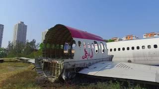 بالفيديو والصور| مقبرة الطائرات.. مزار سياحي غريب في تايلاند