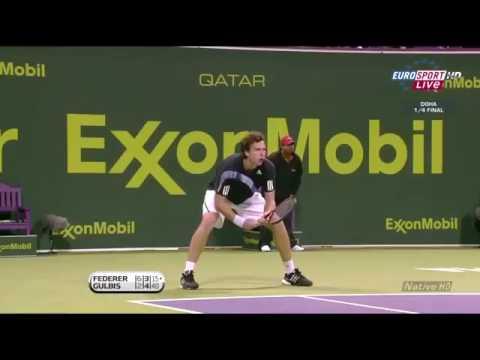 HD 50FPS Roger Fed R V Ernests Gulbis Doha 2010 QF Highlights HD
