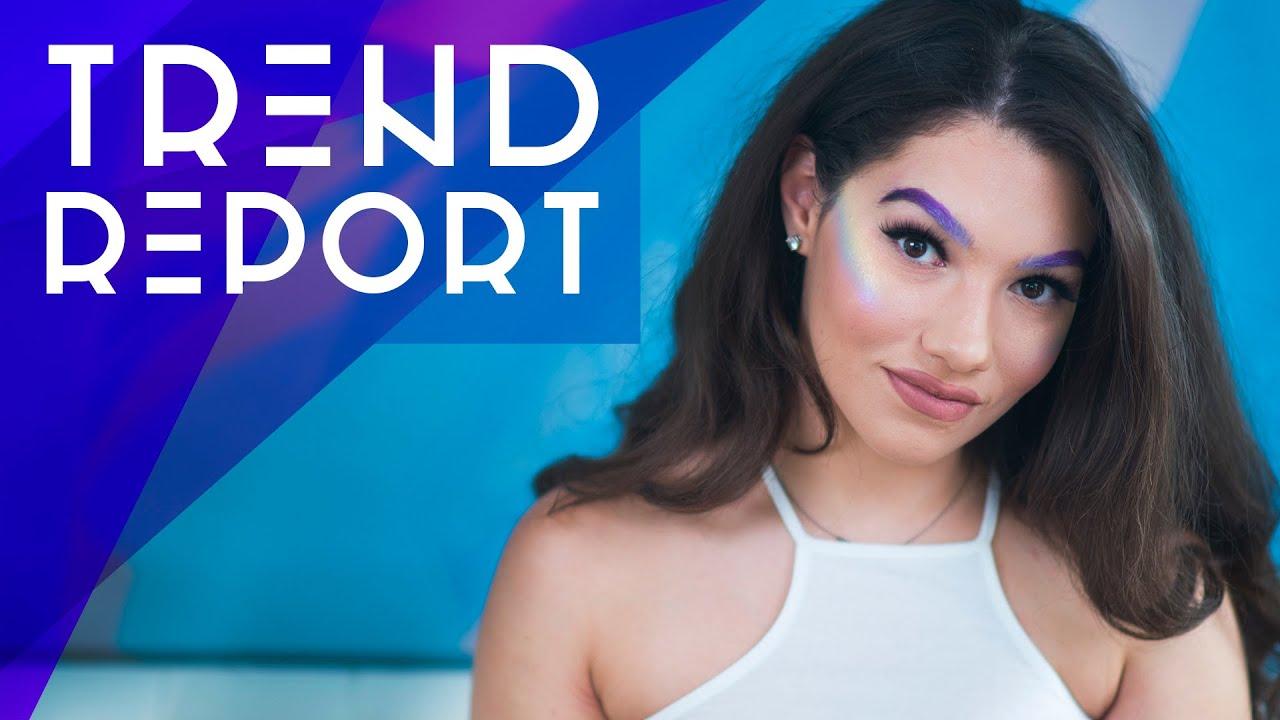 Trend Report: Rainbow Highlight, Metallic Lips, Colored Brows + More! - Trend Report: Rainbow Highlight, Metallic Lips, Colored Brows + More!
