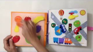 Quiet book for kid - Skill practice book 9/felt book/ busy book