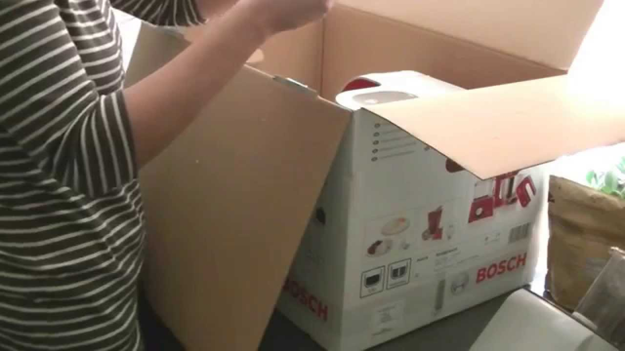 Unboxing Küchenmaschine Bosch MUM54420 red diamond Teil 1 - YouTube