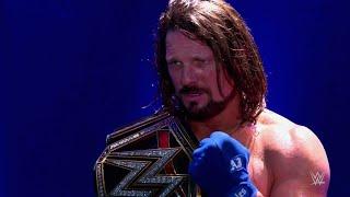 WWE Şampiyonluk yolunda AJ Styles izleyin: Seçkin, Kasım. 9, 2017