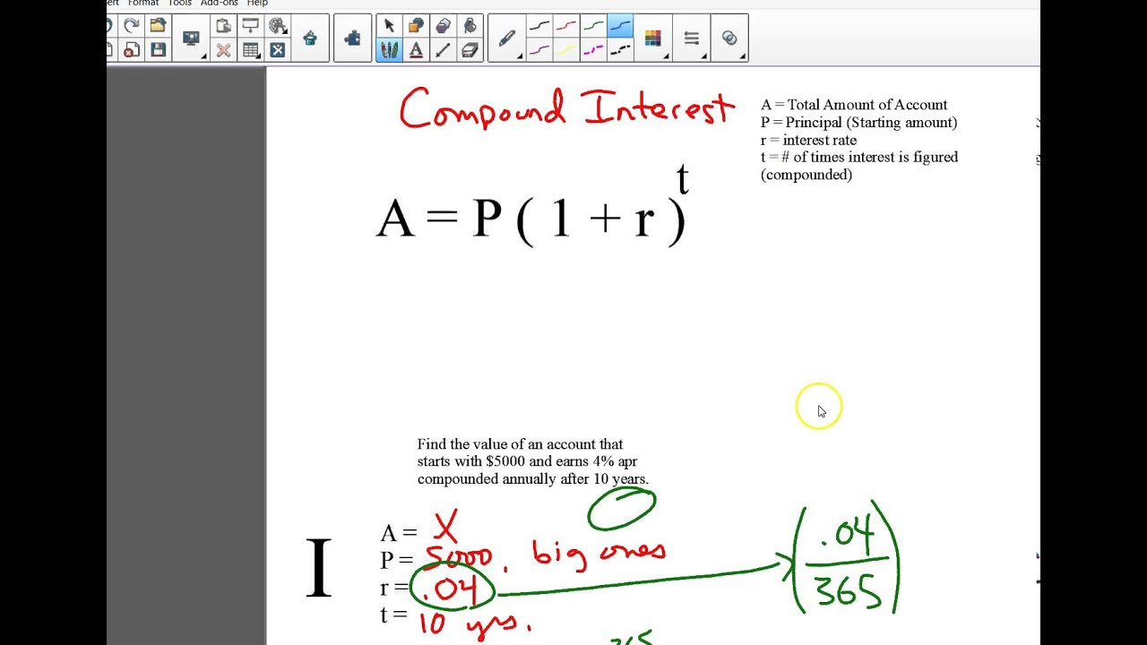 Simple and Compound Interest Formulas and Notes - YouTube