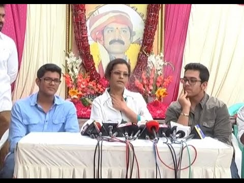 Sri Hari sons and wife Shanthi Pressmeet on Srihari Anniversary