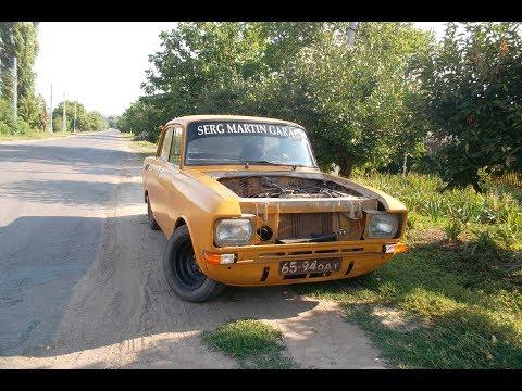 Первый выезд и сразу жжем резина на Москвич 2140 Drift