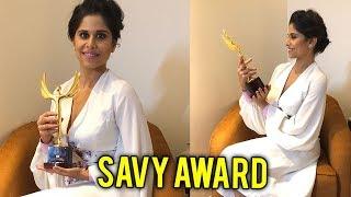 Sai Tamhankar Felicitated With Savy Award | Marathi Actress | Hunter & No Entry - Pudhe Dhoka Aahe