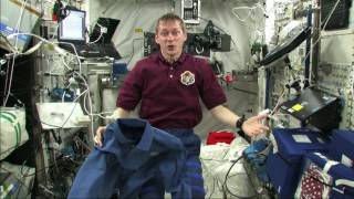How do you wash your clothes in space?