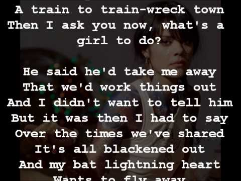 What's A Girl To Do by Bat For Lashes (Lyrics on Screen)