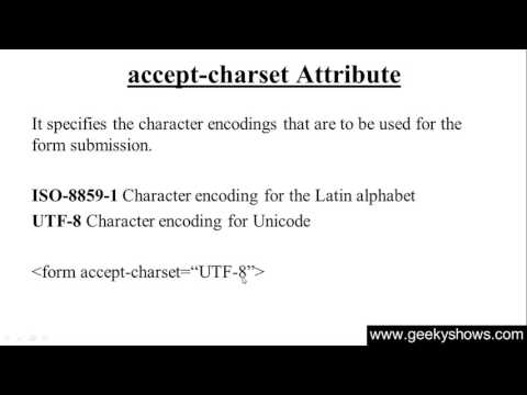 139. Accept Charset Attribute In HTML (Hindi)