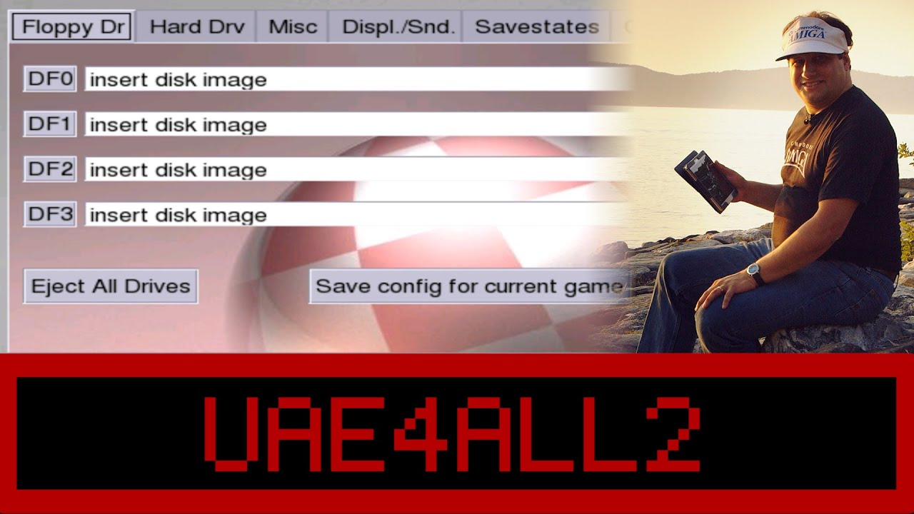 UAE4ALL2 - Commodore Amiga Emulation on an Android Tablet