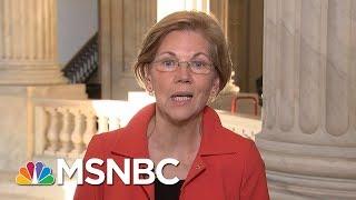 Senator Elizabeth Warren Reacts To President Donald Trump Calling Her 'Pocahontas' | MSNBC