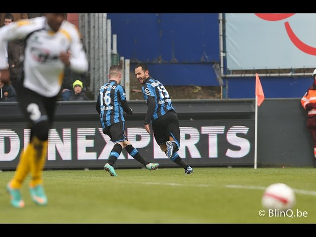 2012-2013 - Sporting Lokeren - Club Brugge - GOAL Victor Vazquez