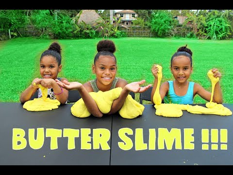 1 Gallon of  GIANT BUTTER SLIME !!!! (DIY)