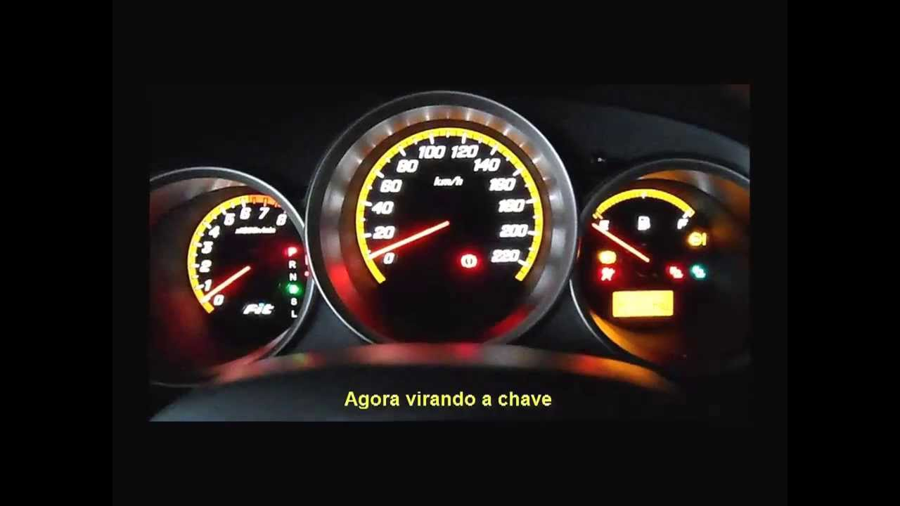 Adaptando substituindo painel Honda Fit Ex Blackout - YouTube