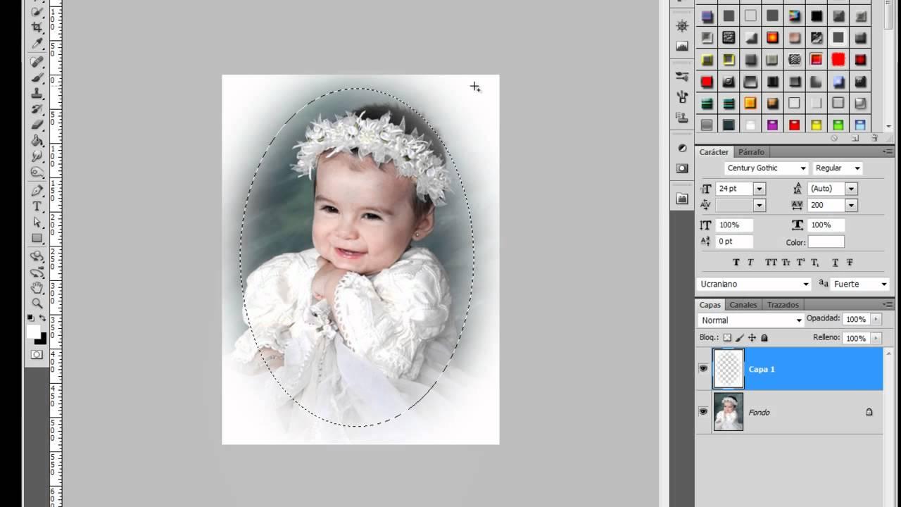 Marco desvanecido Caritas de Bebe #Photoshop - YouTube