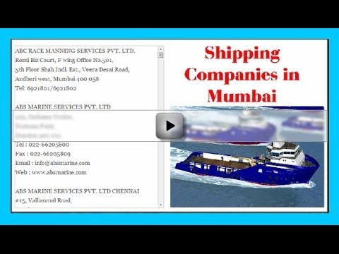 Shipping Companies in Mumbai