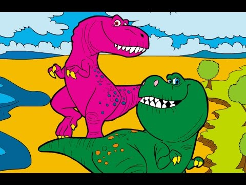 The Good Dinosaur / Ramsey and Nash / Best Coloring Games - YouTube