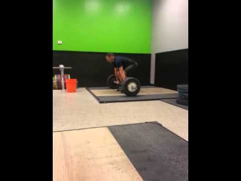 Crossfit Knoxville Barbell Club 90kg Clean Miss