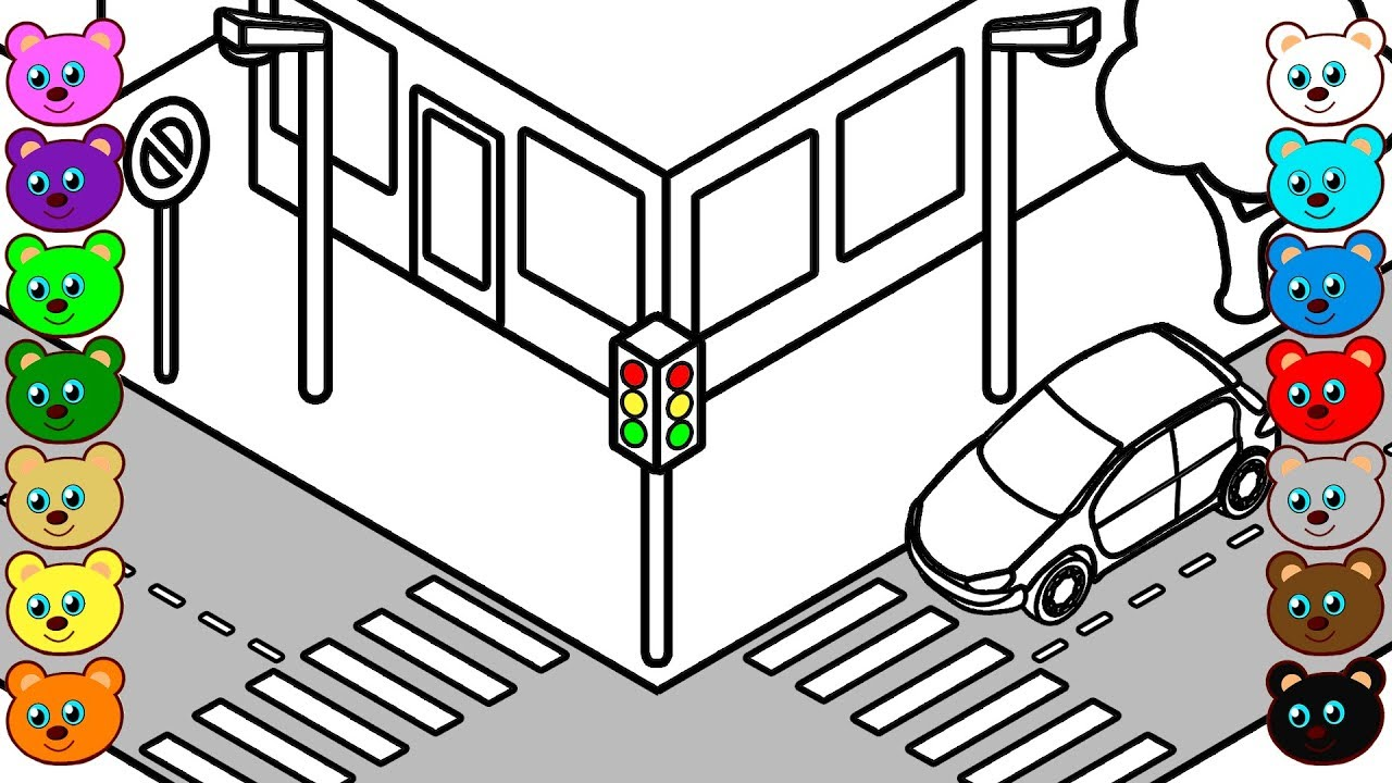 coloring pages street - photo#12