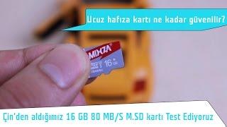 Çin'den ucuz hafıza kartı Mixza 80 Mb/s Testi ''Ne Kadar Güvenilir?''