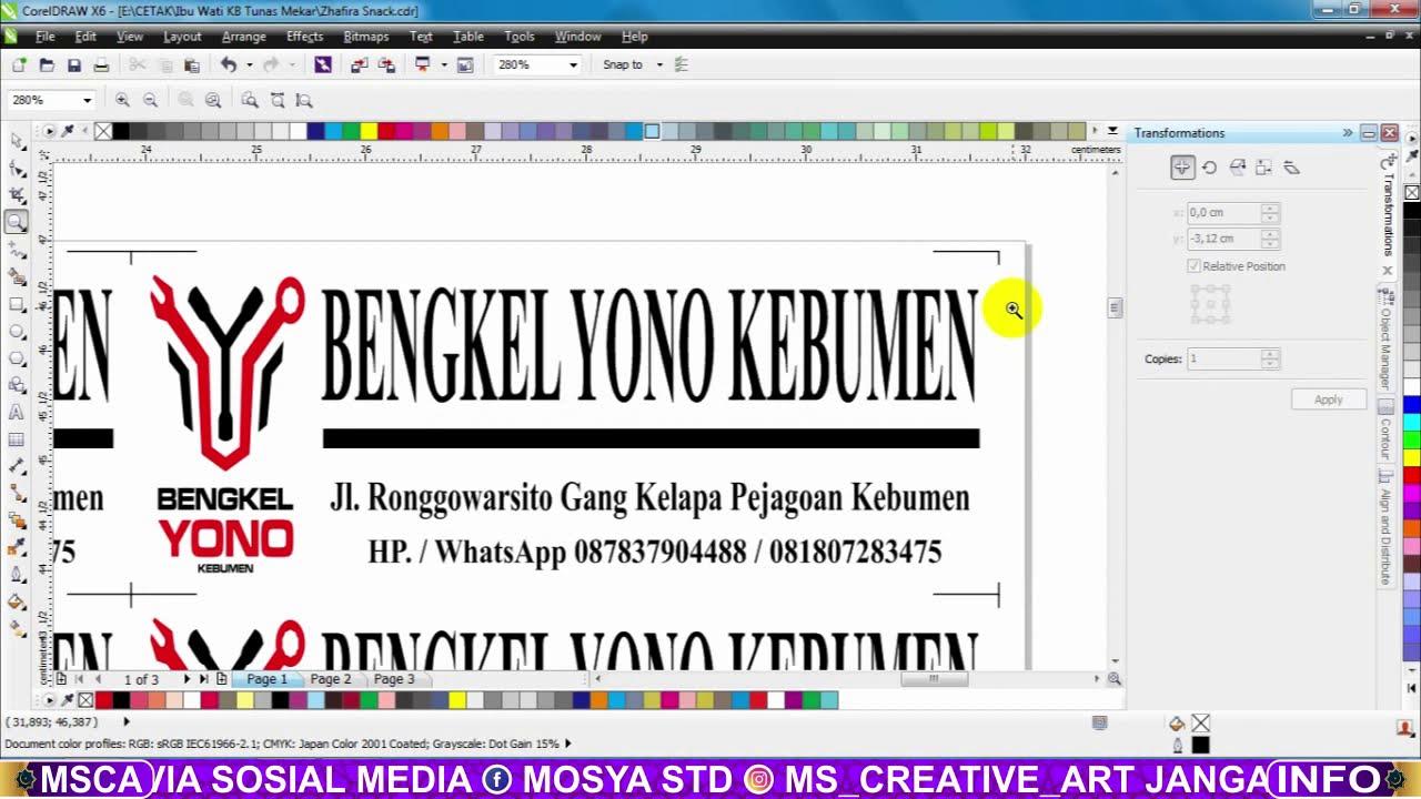 Desain Sticker Bengkel - YouTube