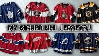 My Signed Hockey Jersey Collection + 1K Giveaway Jersey Reveal!!! | Auddie James