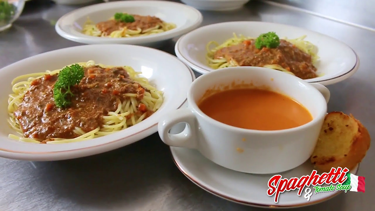 Spaghetti Bolognaise & Cream of Tomato Soup