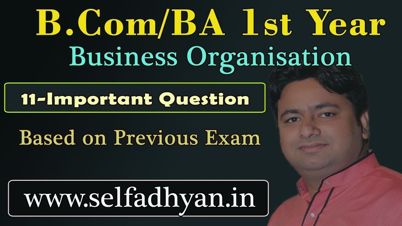 Business Organisation And Management B Com 1st Year Important