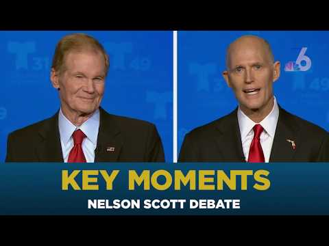 Bill Nelson, Rick Scott Square Off in First Florida Senate Debate | NBC 6
