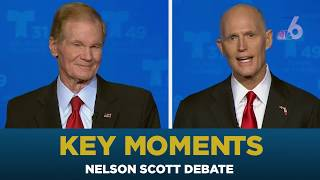 Bill Nelson, Rick Scott Square Off in First Florida Senate Debate | NBC 6