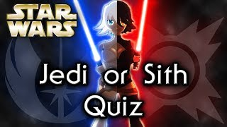 Find out YOUR side JEDI or SITH! - Star Wars Quiz