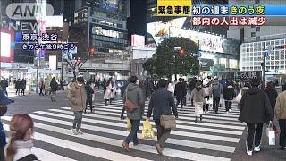 都内の人出 前日より減少 2回目の宣言後初の週末(2021年1月9日) - YouTube