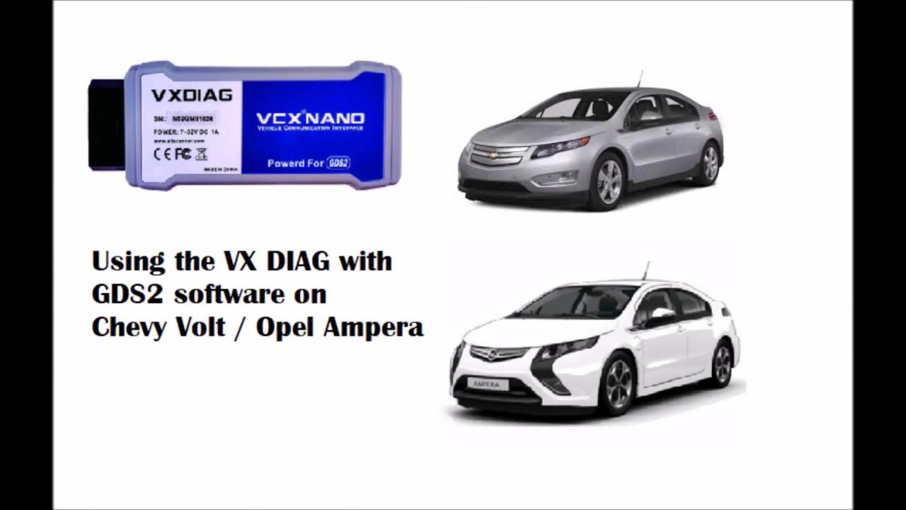 Chevy Volt, Opel Ampera VXDIAG, VCX NANO GDS2 Diagnostics