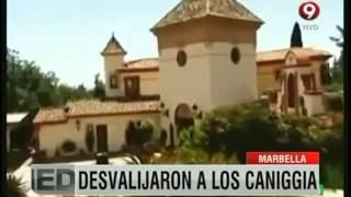 Marbella: Desvalijaron a los Caniggia