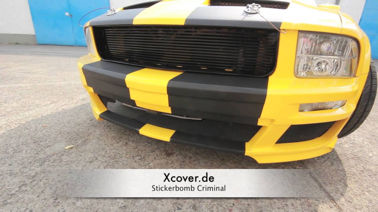 ford mustang shelby stickerbomb 3m carbonfolie. Black Bedroom Furniture Sets. Home Design Ideas