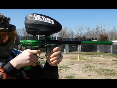 New Dye M3s paintball marker shooting video