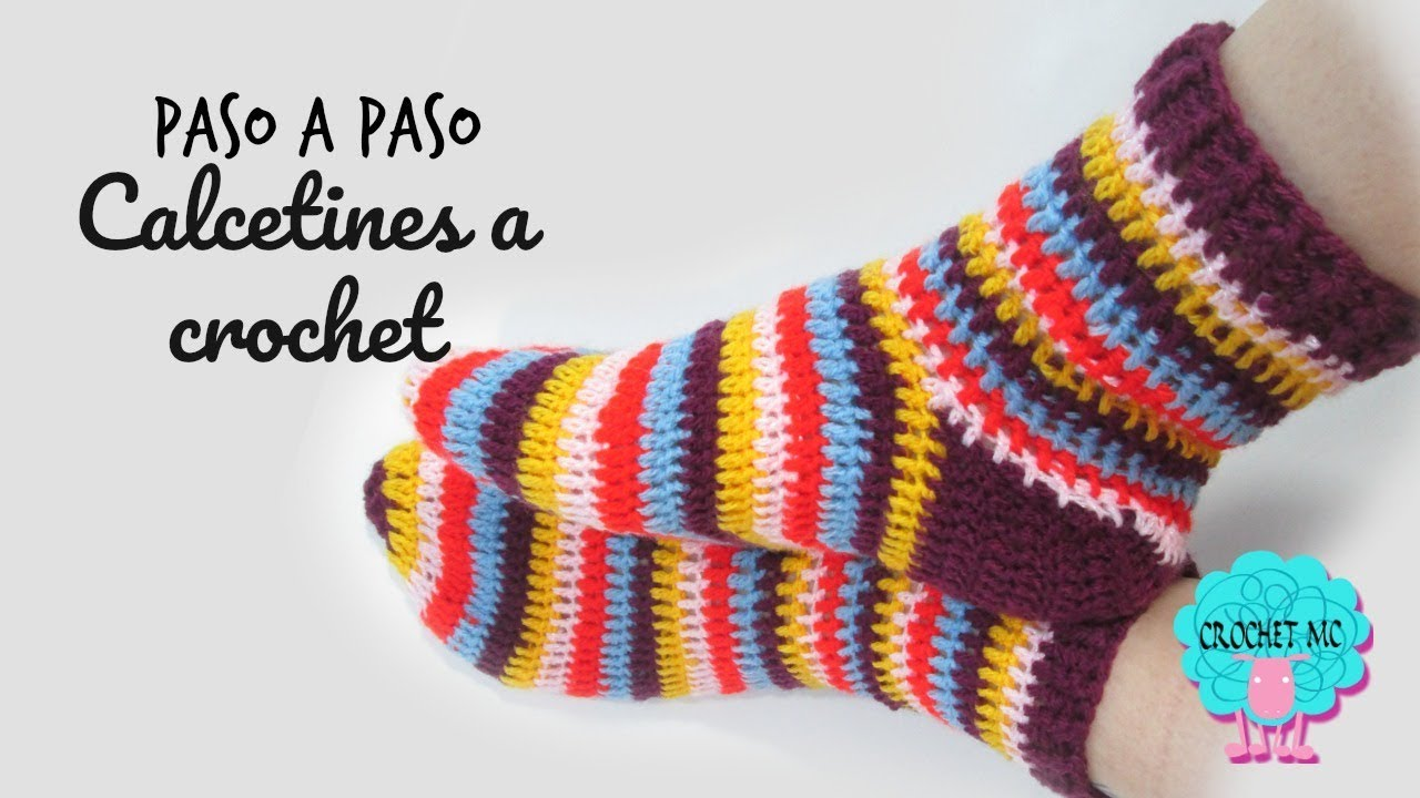 Tutorial Calcetines a crochet - YouTube