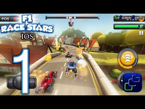 F1 Race Stars iOS Walkthrough - Gameplay Part 1 - Cup 1: Great British Race Off
