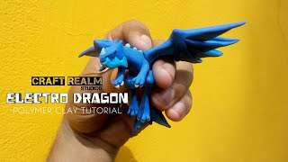 HOW TO MAKE CLASH OF CLANS ELECTRO DRAGON FROM THE NEW TOWNHALL 12 UPDATE | POLYMER CLAY TUTORIAL
