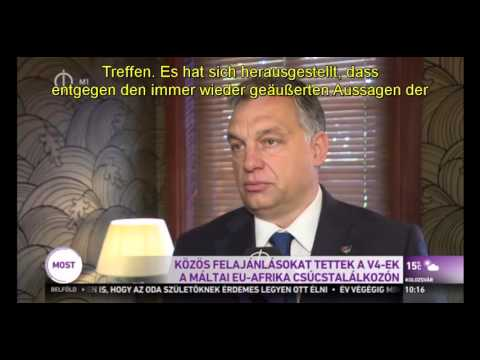 Interview mit Orbán Viktor in Valletta - Malta 2015.11.11 (Teil 1.)
