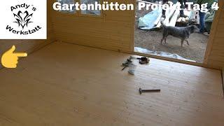 Gartenhütten Projekt Teil #5 - Fußboden - Tag 4