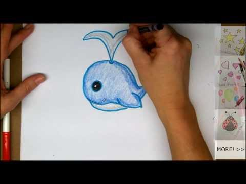 Drawing How To Draw Cute Cartoon Whale
