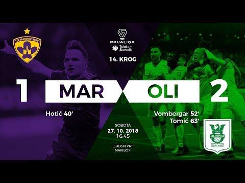 14.krog: Maribor - Olimpija 1:2 ; Prva liga Telekom Slovenije 2018/2019