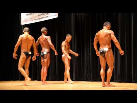 Men's Novice Bodybuilding Final Posedown at the 2015 WNBF Natural USA